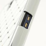 Drahokamové puzdro na Sony Xperia Z L36i C6603- biele - 6/7
