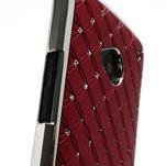 Drahokamové puzdro pre HTC one M7- červené - 6/7