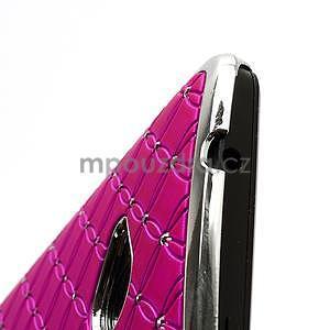 Drahokamové puzdro pre HTC one M7- růžové - 6
