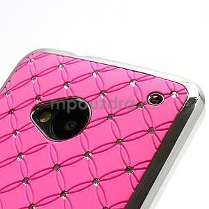 Drahokamové puzdro pre HTC one M7- svetloružové - 6