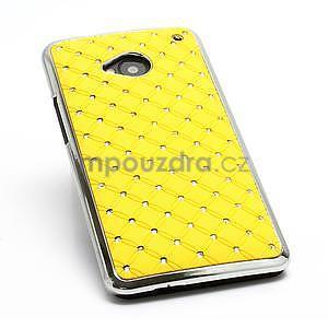 Drahokamové puzdro pre HTC one M7- žlté - 6