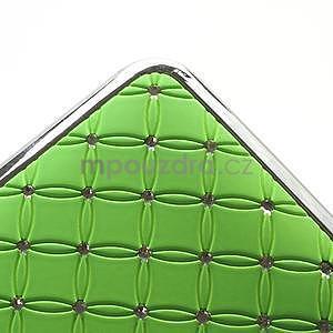 Drahokamové puzdro pre HTC one M7- zelené - 6