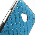 Drahokamové puzdro pre HTC one M7- svetlo modré - 6/6