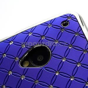Drahokamové puzdro pre HTC one M7- modré - 6