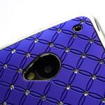 Drahokamové puzdro pre HTC one M7- modré - 6/6