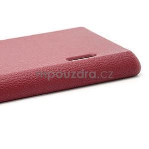 Texturované puzdro pre LG Optimus L7 P700- červené - 6