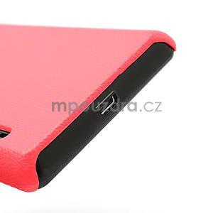 Texturované puzdro pre LG Optimus L7 P700- ružové - 6