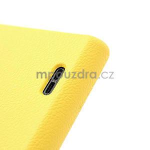Texturované puzdro pre LG Optimus L7 P700- žlté - 6