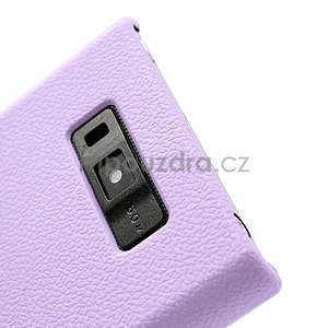 Texturované puzdro pre LG Optimus L7 P700- fialové - 6