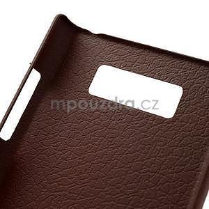 Texturované  puzdro pre LG Optimus L7 P700- hnedé - 6