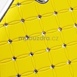 Drahokamové puzdro pre LG Optimus L9 P760- žlté - 6