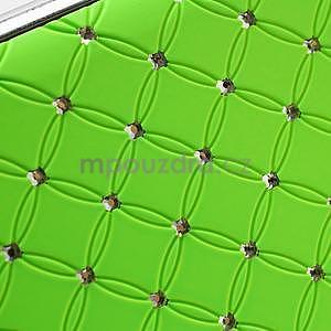 Drahokamové puzdro pre LG Optimus L9 P760- zelené - 6