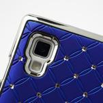 Drahokamové puzdro pre LG Optimus L9 P760- modré - 6/7