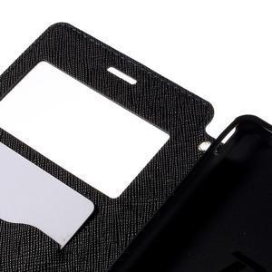 Peněženkové pouzdro s okýnkem pro Sony Xperia M4 Aqua - tmavěmodré - 6