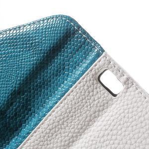 Luxusní peněženkové pouzdro na Huawei P8 Lite - bílé / modré - 6