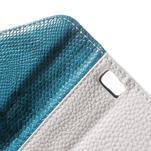 Luxusní peněženkové pouzdro na Huawei P8 Lite - bílé / modré - 6/7
