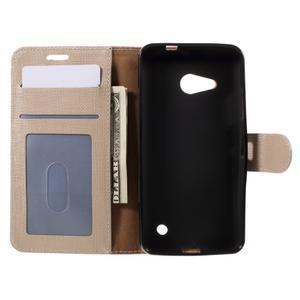 Cloth PU kožené puzdro na mobil Microsoft Lumia 550 - champagne - 6