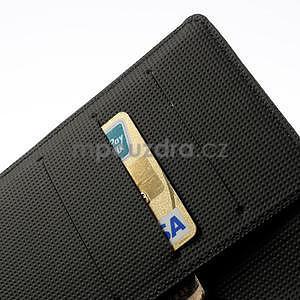 Peňaženkové puzdro pre Nokia Lumia 1320- čierné - 6