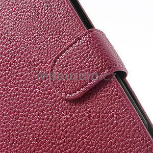 Peňaženkové puzdro pre Nokia Lumia 1320- ružové - 6