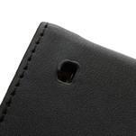 Flipové čierné puzdro na Nokia Lumia 520 - 6/7