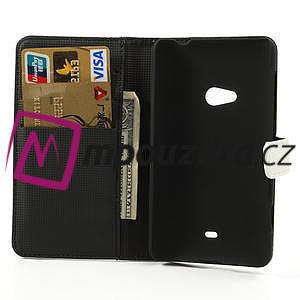 Peňaženkové puzdro na Nokia Lumia 625 - biele - 6