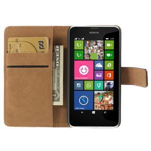 Peňaženkové puzdro na Nokia Lumia 630- čierné - 6