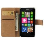 Peňaženkové puzdro na Nokia Lumia 630- čierné - 6/7