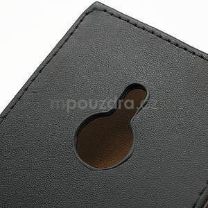 Flipové čierné puzdro pre Nokia Lumia 925 - 6