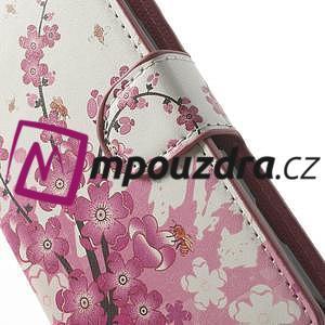 Peňaženkové puzdro na Sony Xperia L C2105- kvetoucí větvička - 6