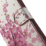 Peňaženkové puzdro na Sony Xperia L C2105- kvetoucí větvička - 6/7