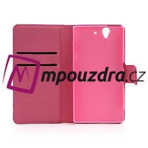 Peňaženkové puzdro pre Sony Xperia Z C6603 - farební motýľe - 6