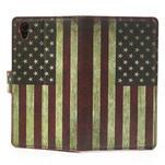 Peňaženkové puzdro pre Sony Xperia Z1 C6903 L39- USA vlajka - 6/7