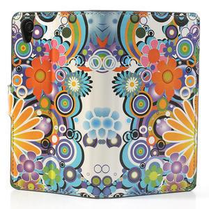 Peněženkové pouzdro na Sony Xperia Z1 C6903 L39- barevné květy - 6