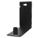 Flipové puzdro na Sony Xperia M2 D2302 - čierné - 6/7