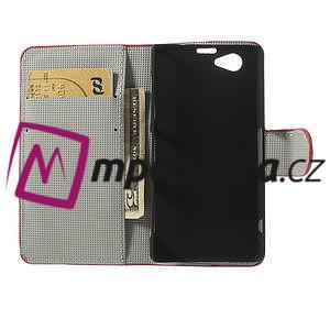 Peňaženkové puzdro pre Sony Xperia Z1 Compact D5503 - USA vlajka - 6