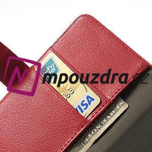 Peňaženkové puzdro na LG Optimus L9 II D605 - červené - 6