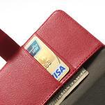 Peňaženkové puzdro na LG Optimus L9 II D605 - červené - 6/7
