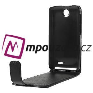 Flipové Cover kožené puzdro pre HTC Desire 310- čierné - 6