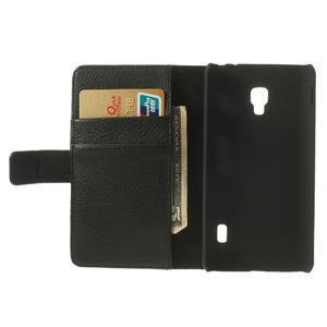 Peňaženkové puzdro na LG Optimus F6 D505- čierné - 6