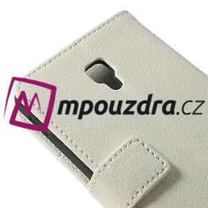 Peňaženkové puzdro na LG Optimus F6 D505 - biele - 6