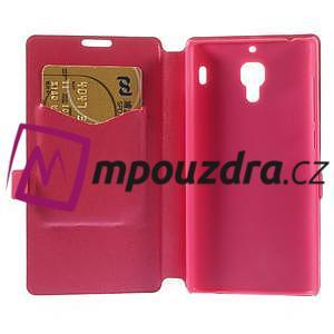 Peňaženkové puzdro na Xiaomi Hongmi Red Rice- růžové - 6