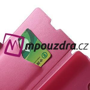 Peňaženkové puzdro na Xiaomi Hongmi Note- růžové - 6