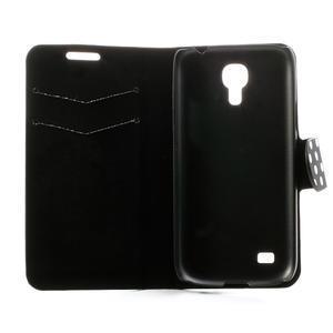 Peňaženkové  puzdro na Samsung Galaxy S4 mini i9190- puntíkaté čierné - 6