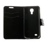 Peňaženkové  puzdro na Samsung Galaxy S4 mini i9190- puntíkaté čierné - 6/7