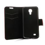 Peňaženkové puzdro na Samsung Galaxy S4 mini i9190- puntíkaté červené - 6/7