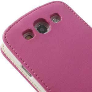 Flipové pozdro pre Samsung Galaxy S3 i9300 - ružová - 6