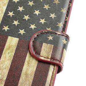Peňaženkové puzdro pre Samsung Galaxy S3 i9300- USA vlajka - 6