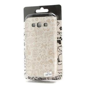 Peňaženkové puzdro na Samsung Galaxy S3 i9300- biele - 6