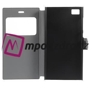 Flipové puzdro na Xiaomi Mi3- modrá lilie - 6