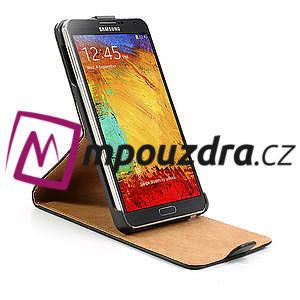 Flipové kožené puzdro pre Samsung Galaxy Note 3- čierné - 6